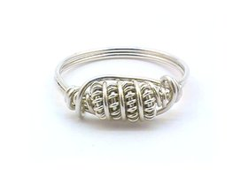 Unique Coiled Sterling Silver Filled Wire Wrapped Ring