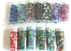 13 Tubes of Japanese Miyuki Seed Bead Mixes, Cubes, and Drops Total of  174 grams