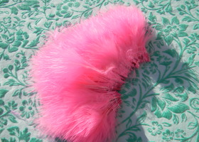 White Pink and Striped Marabou Feathers for Hair Clips, Headbands, Scrap Booking ETC.