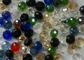 3x4mm Crystal Rondelles