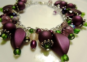 Purple Dream Beaded Bracelet HANDMADE