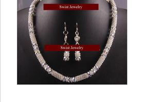 Swarovski Crystal 18KGP Necklace Bracelet Earrings Set