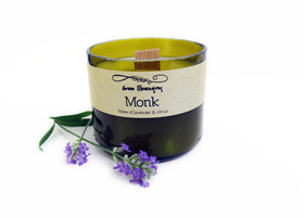 Wine Bottle Candle - 5oz. Monk