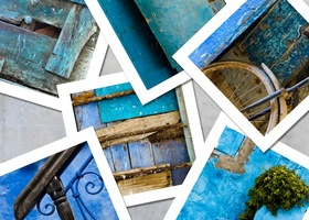 A Set of Six Blue Morocco Photographs