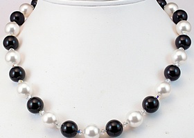 Prom 2012~Black and White Swarovski Choker~Prom 2012
