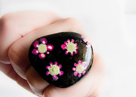 Spring Punch Ring Natural Stone Art