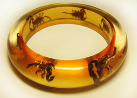 Scorpion Insect Lucite Bangle Bracelet GROSS! :)