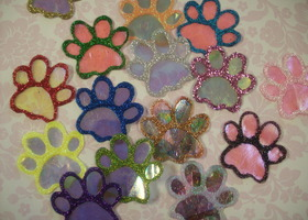 12 Sparkly Pet Paws - You Pick Colors