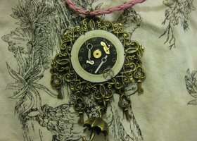 2 Steampunk Necklaces! FREE RING TO WINNER!