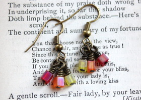 BRIGHT Cluster Cube Earrings!
