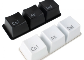 Ctrl ALT DEL Keyboard Coffee Tea Mug Cup Set