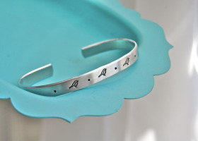 3 little birds, bracelet cuff