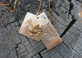 Harry Potter Riveted Hand stamped Necklace FREE SHIPPING