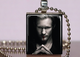True Blood inspired scrabble tile necklace ~Eric