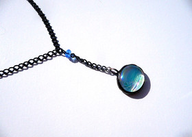 Stained Glass Jewelry - Squished Marble Necklace