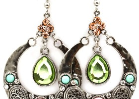 bejeweled art nouveau drop earrings