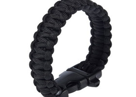 Graphite Gray Survival Bracelet with Whistle Buckle