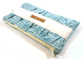 Gathered Zippered Clutch