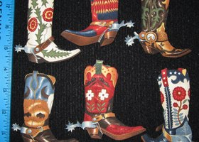 Iron On Fabric Appliques Cowboy Boots