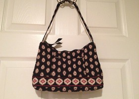 Vera Bradley Classic Black Small Shoulder Purse