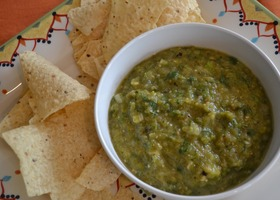 Grilled Tomatillo & Serrano Salsa Recipe