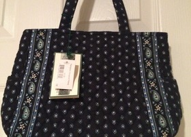 Vera Bradley Seaport Navy Hampton Rare Handbag Satchel