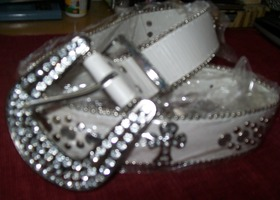 ladies rhinestone belt