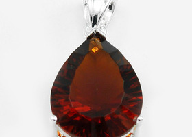 17ct Red Garnet Gemstone embed in .925 Silver