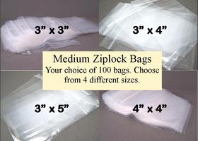 100 Medium Recloseable Bags
