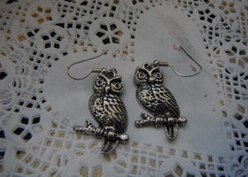 Owl dangly earrings