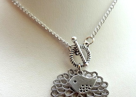 Filigree Pendant with a Bird Necklace