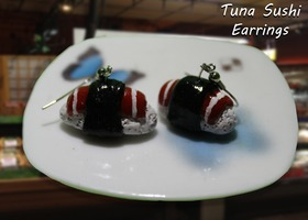 earrings tuna sushi
