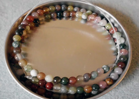 Indian Agate 4mm Round Beads