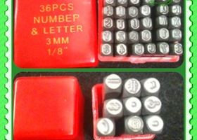 Start With New36 pcs Number/Letters Steel Stamps