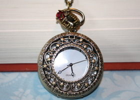 """True Blood"" Inspired Pocket Watch Necklace"