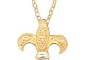 Giani Bernini 24K Gold over .925 Fleur De Lis Pendant