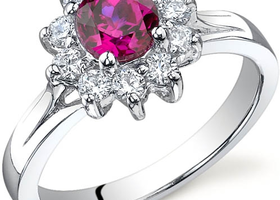 0.75 carats Ruby Ring in Sterling Silver SZ 5,6,7,8 or 9