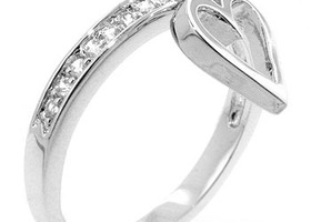 Silver Cupid Eternity Ring! Size 8!