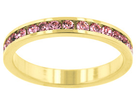 Gorgeous 3.5 CT Stackables Pink Gold Ring! Size 9!