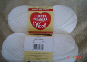 2 Skeins of Red Heart with Wool Yarn Pearl