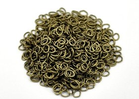 125 - 4mm Bronze Tone Open Jump Rings