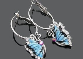 Butterfly crystal diamond Dangle earrings