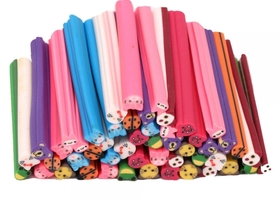 50pcs Craft or Nail Art Animal Fimo Canes HK
