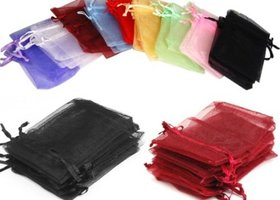15 Organza Bags - 3 x 4 / assorted colors