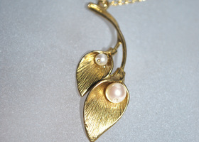 Handmade Gold Calla Lily Necklace
