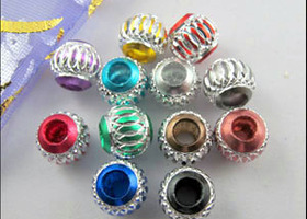 25 European Aluminum Beads