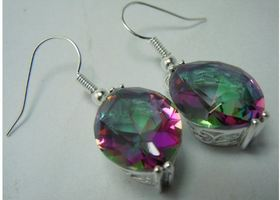 Mystic Topaz Gemstone Earrings