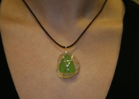 Sterling Silver Wrapped Sea Glass