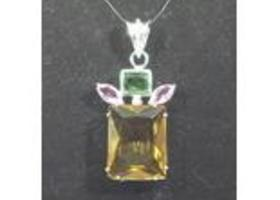 New Brazil Citrine Gemstone Pendant p3