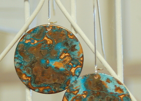 Oxidized Copper Dangles